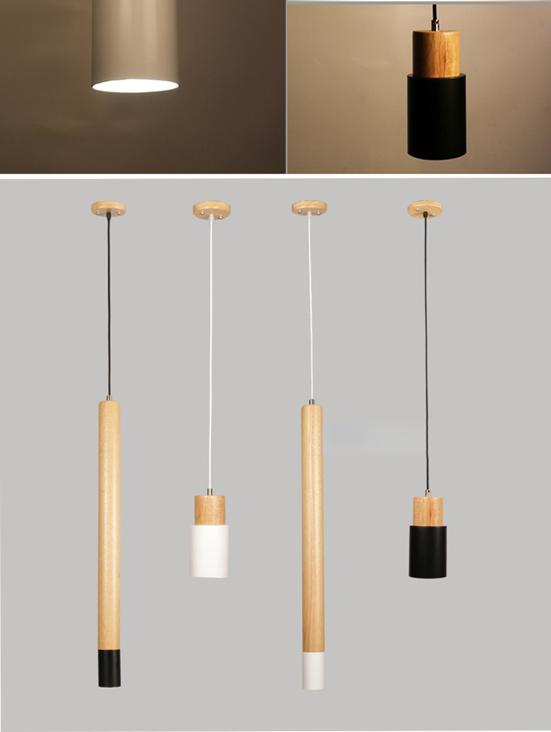 Modern lamp brief minimalist creative wood 7
