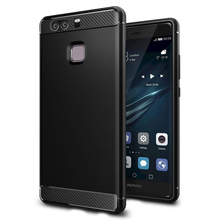 100% Original SGP Rugged Armor Carbon Fiber Texture Protective Cover for Huawei P9