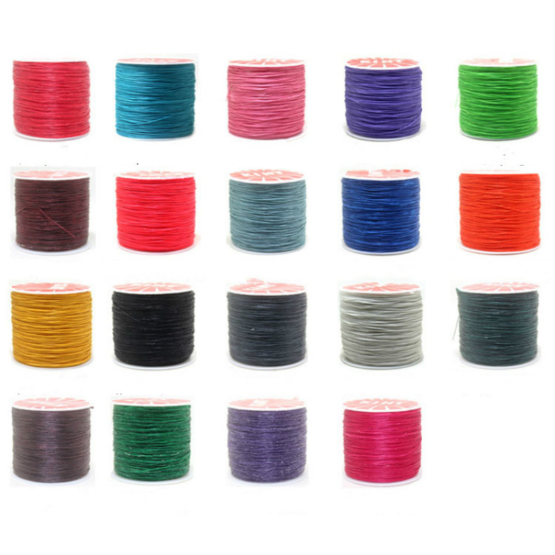 0.45m 0.5mm 0.6mm Waxed Thread Cord Jewelry Findings DIY Hand Polyester Stitching Sewing Thread Mix Color Handicraft Tools