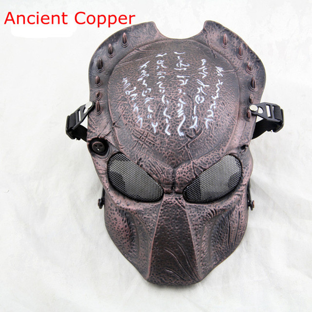 Free shipping halloween cosplay predator costume cs game outdoor free shipping halloween cosplay predator costume cs game outdoor protection helmet masks tactical army of two voltagebd Image collections