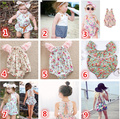 in stock toddler girl overalls kids summer clothings Print floral princess children girl jumpsuits