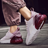 NORBERG Women Sneakers Women Casual Shoes Fashion Breathable Mesh Walking Shoes Lace Up Flat Shoes Plus size 46