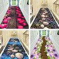Креативный коврик 3D печать растения Цветок коврики для прихожей для гостиной спальни коврики для коридора кухня Противоскользящие коврики