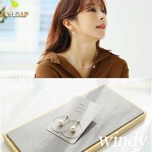 цены Flyleaf 925 Sterling Silver Earrings For Women Geometric Circle Pearl Drop Simple Long Earings Fashion Jewelry High Quality