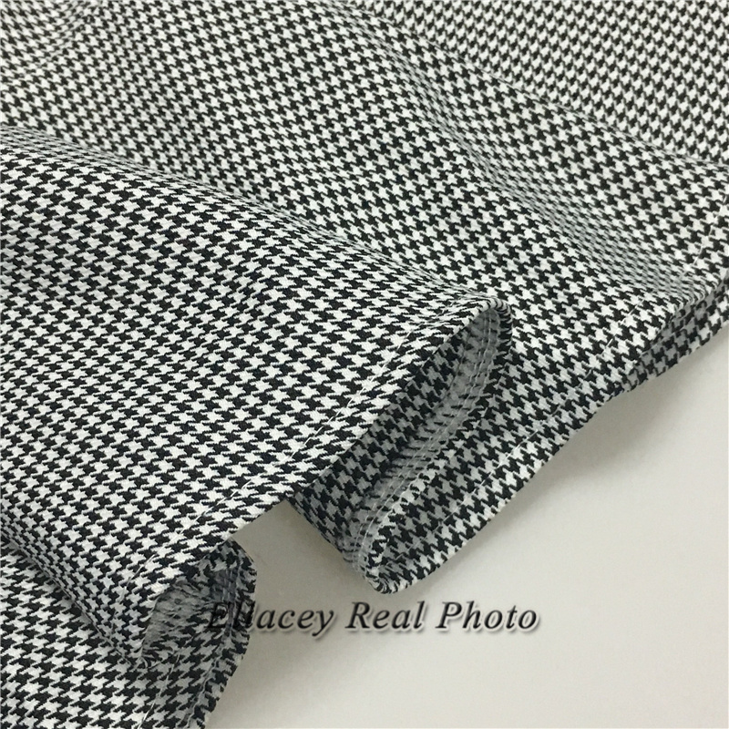 New 19 Spring Autumn Fashion Women's Business Pants Suits Houndstooth Checker Pattern Ruffles Suits For Women 2 Pieces Set 15
