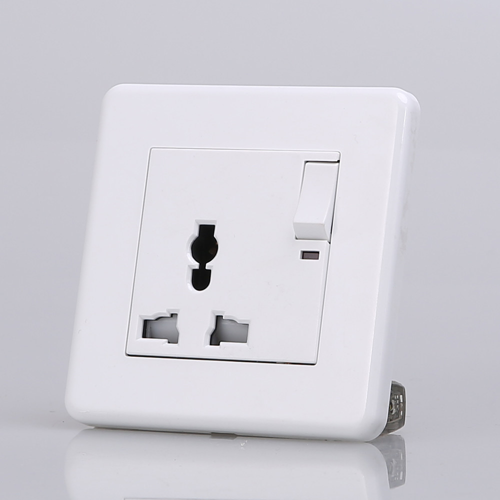 Factory Price Wall Power Switched Socket With Neon, Universal ...