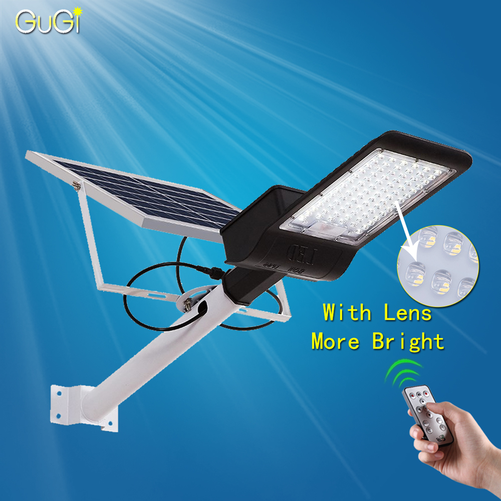 Black Casing Solar Led Street Light With Lens Waterproof IP65 Remote Control 80W-150W Led Solar Lamp For Garden Path Light PoleBlack Casing Solar Led Street Light With Lens Waterproof IP65 Remote Control 80W-150W Led Solar Lamp For Garden Path Light Pole
