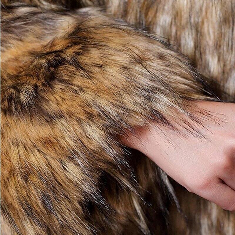 Femme Plus En Fourrure 6xl The Moyen Fausse Veste Picture Vestes D'hiver Manteaux Nouveau Dames Color Femmes La Chaud Faux Long Taille 4w6q41Cr