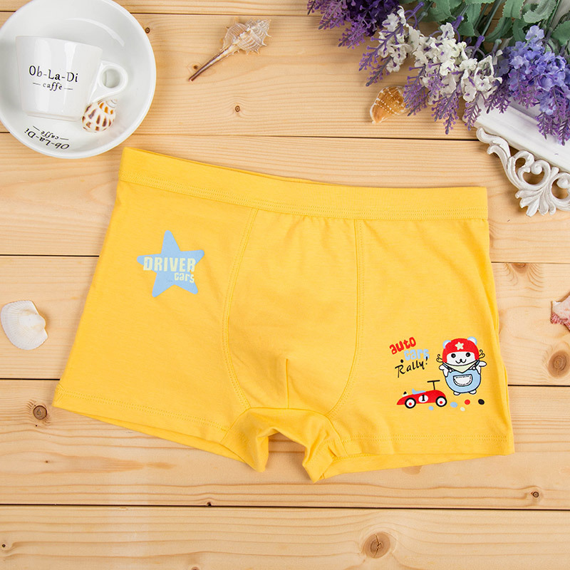 4pcs/lot Cotton Boys Underwear Baby Breathable Boxer Shorts Child Waist Panties Cartoon Print Leggings Boys Baby Boxer Briefs