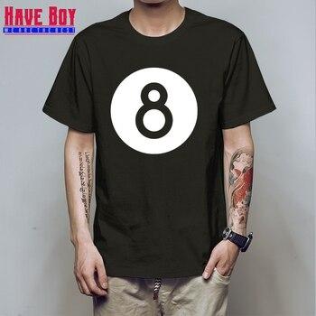 HAVE BOY Eat Sleep Play Pool Billiards T Shirt Short Sleeve 8 Ball Pool Billiard Snooker Printed Funny T-Shirt Black HB217