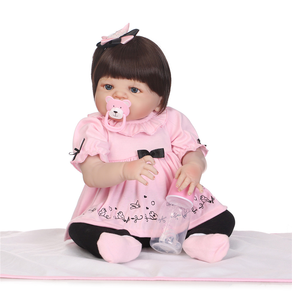 """Adorable Newborn Baby 22/"""" Reborn Silicone Doll Vivid Weighted Body Toddler Gifts"""