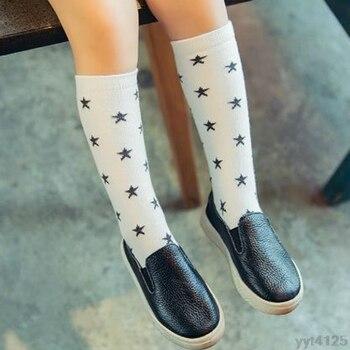 Kids Autumn Winter  Knee High Socks Cute Star Print Calf Length Tube Crew Socks For Child Or Toddler wholesale