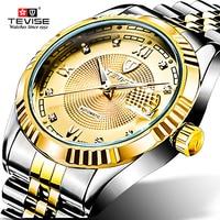 Men Brand Watch Fashion Luxury Wristwatch Waterproof Semi automatic Mechanical TEVISE Watch Luminous Sport Casual Watches