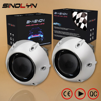 SINOLYN Car Styling Retrofit Mini 2 5 Inch HID Bixenon Projector Headlight Lens Automobiles Headlamp Lenses