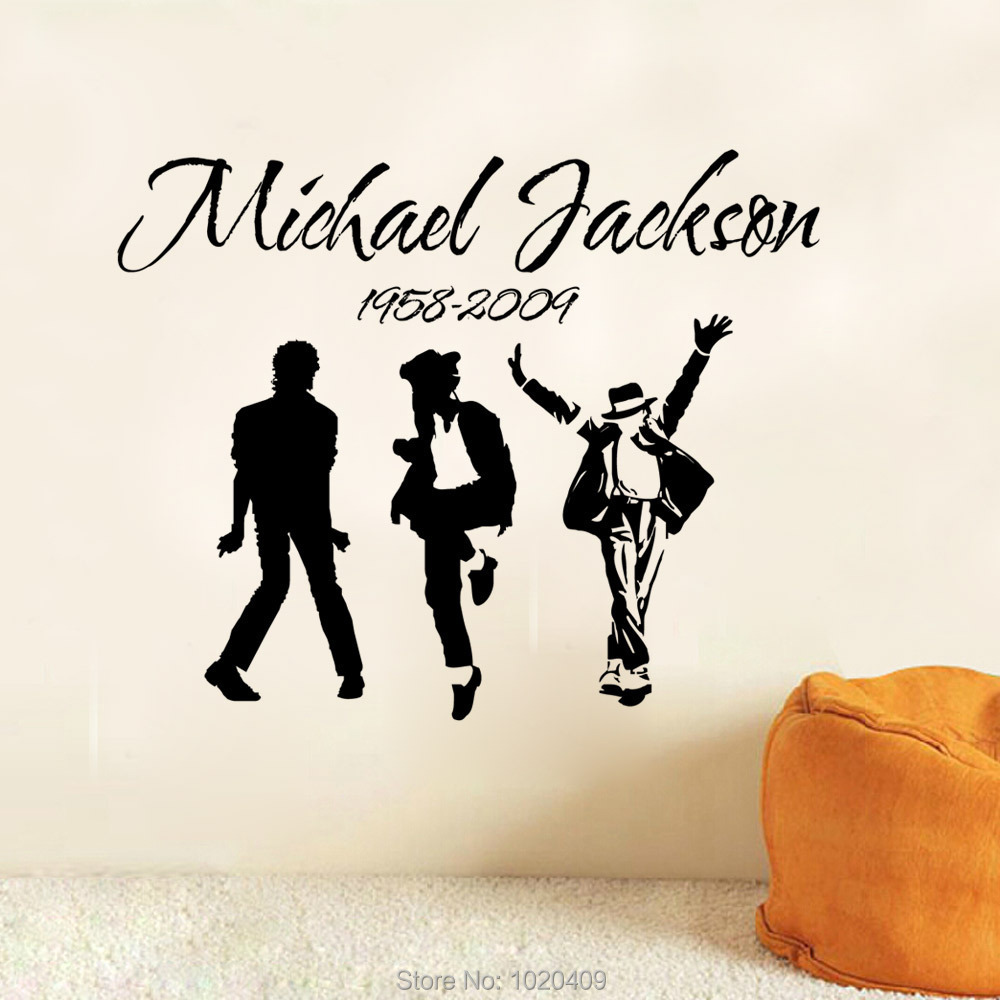 Exclusive Direct wall sticker Home Furnishing decorative Michael Jackson Music Band background PVC wallpaper children room 9173