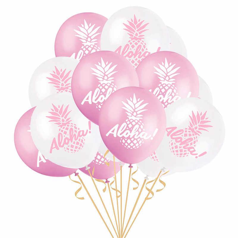 10 ชิ้น 12 นิ้ว ALOHA สับปะรดรอบบอลลูนงานแต่งงานวันเกิดผู้ใหญ่ฮาวาย Party Photo Props ตกแต่งบอลลูน