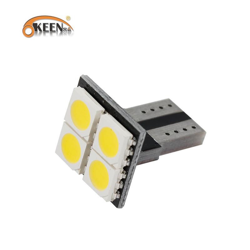 OKEEN 2019 New Car No Error <font><b>T10</b></font> LED 194 168 W5W Canbus <font><b>4</b></font> <font><b>SMD</b></font> 5050 LED Car Interior Light Bulbs Warm White Parking Width Lamps image