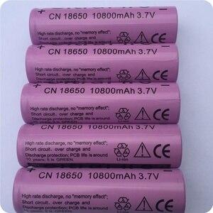 Conjunto de 2-20 unidades, batería de liion recargable de 18650 V 3,7 mAh para linterna Led, batería de litio, celda de batería de litio GTL EvreFire