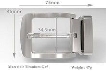 Титан gr5 Булавки пряжки ремня антикоррозионные противоаллергическое не-покрытие Никель Бесплатная 47 г с поясом петля для пояс широкий 32 мм до 34 мм