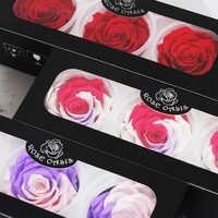 1 scatola di Eterna Flores Preservadas Naturales Fiori Secchi Conserve di Fiori Immortale Rosa 8 centimetri di San Valentino Giorno Regalo Di Compleanno