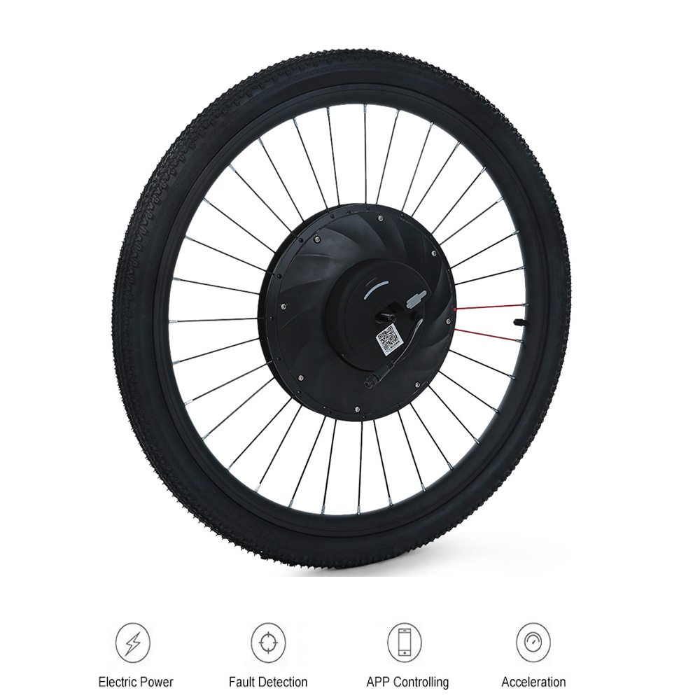 YUNZHILUN 36V - X IMortor Electric Bicycle Wheel Bike 26 Inch Bluetooth 4.0 Smart Electric Front Wheel For Bicycle Motorbike