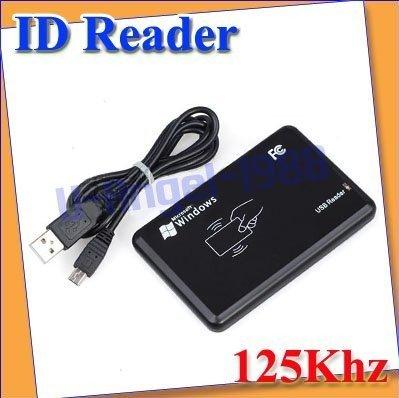free shippinge New Security Black USB RFID ID Proximity Sensor Smart Card Reader 125Khz EM4100