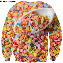 PLstar Cosmos  3D Print Delicious Food Funny Man Women Top Sweatshirt new style fashion hoodies tops