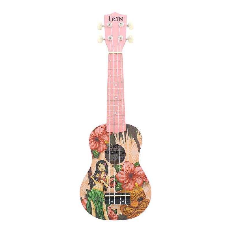 Basswood 21 pouces rose Soprano ukulélé Ukelele guitare 4 cordes acoustique hawaïenne guitare Instruments de musique pour fille débutant
