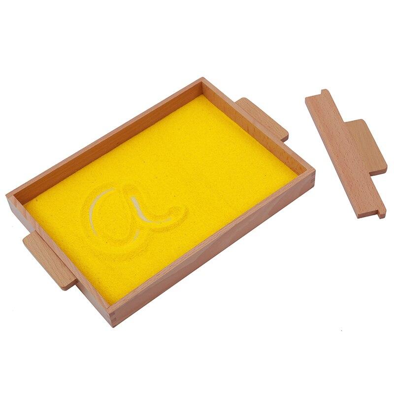 Jouet bébé Montessori plateau de sable éducation de la petite enfance formation préscolaire jouets d'apprentissage - 3