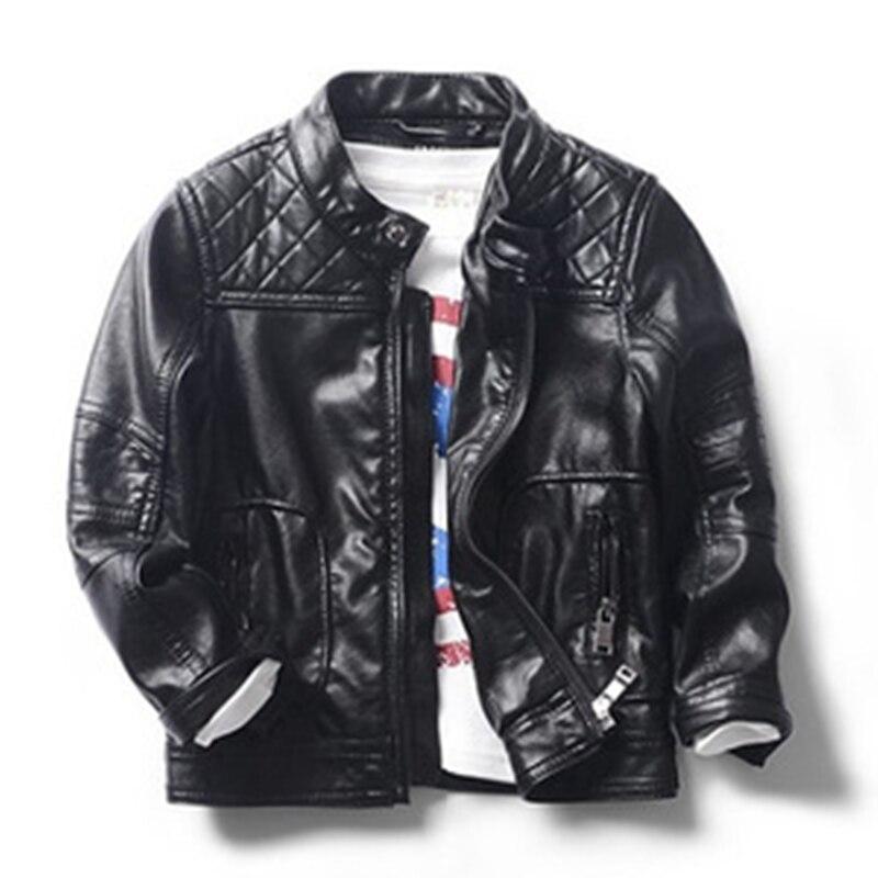 Popular Boys Black Leather Jacket-Buy Cheap Boys Black Leather