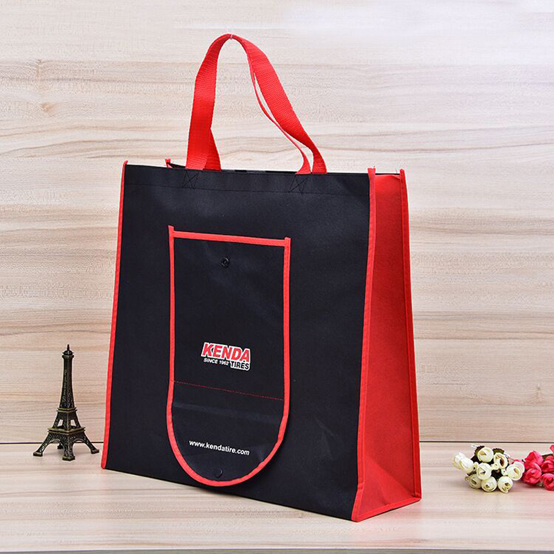 wholesales 500pcs lot custom reusable non woven shopping bags print your logo promotional Foldable with button