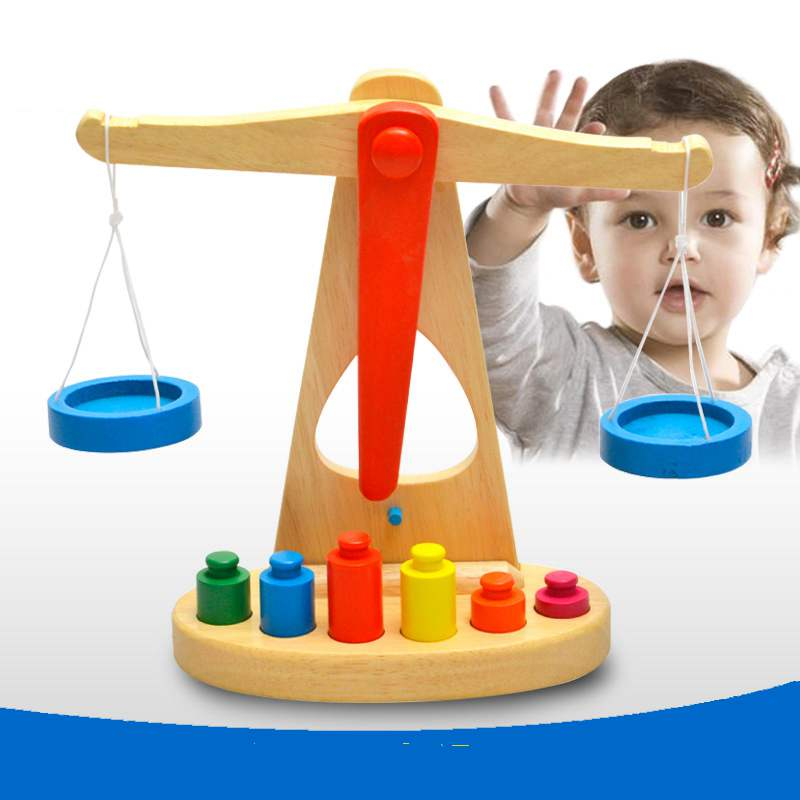 Baby Toys Educational Balancing Blocks Wooden Toys Beech Wood Balance Game Montessori Blocks Gift For Child