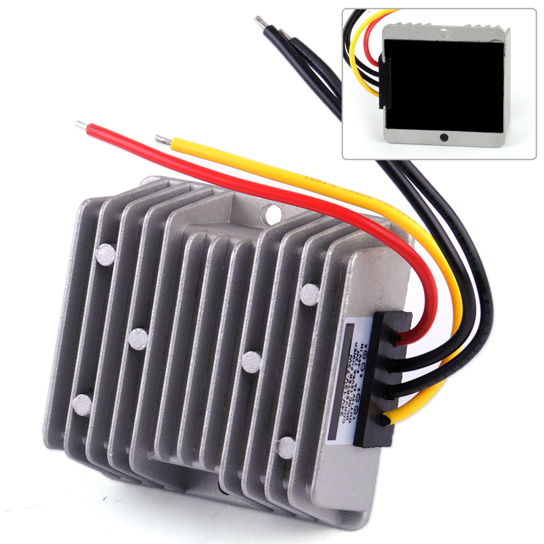 DWCX Universal Waterproof Car Power Automatic DC 8V~40V To 12V Voltage Stabilizer Regulator 6A 72W Step-down Supply ConverterDWCX Universal Waterproof Car Power Automatic DC 8V~40V To 12V Voltage Stabilizer Regulator 6A 72W Step-down Supply Converter