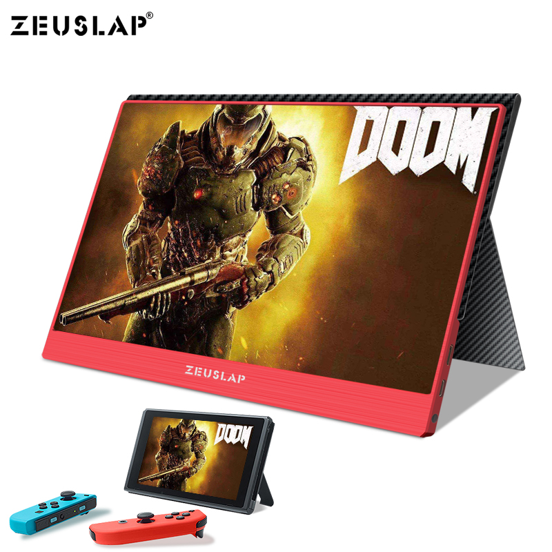 15.6inch 1920X1080P FHD NTSC 72% USB C HDMI Portable Monitor for Switch Xbox One PS4 Portable LCD IPS Screen Monitor-in LCD Monitors from Computer & Office