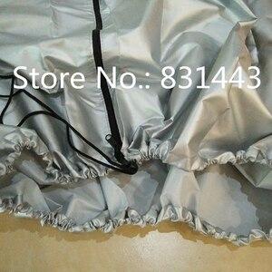 Image 3 - 車のタイヤカバー 4 ホイールスペアタイヤカバーシルバータイヤアクセサリー冬の夏ポリエステルタイヤプロテクター storag バッグ