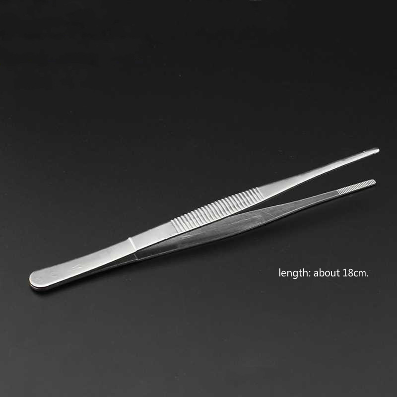 1pcs Multifunctional Tattoo Supplies Medical Stainless Steel Cotton Alcohol Tweezers And Eyebrow Tools