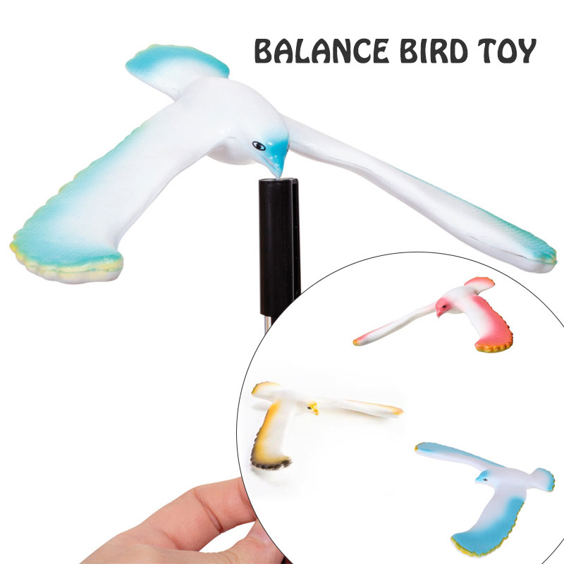 Fun Amazing Maintain Balance Bird Eagle Red Office  Plastic  Toy Desk Toy