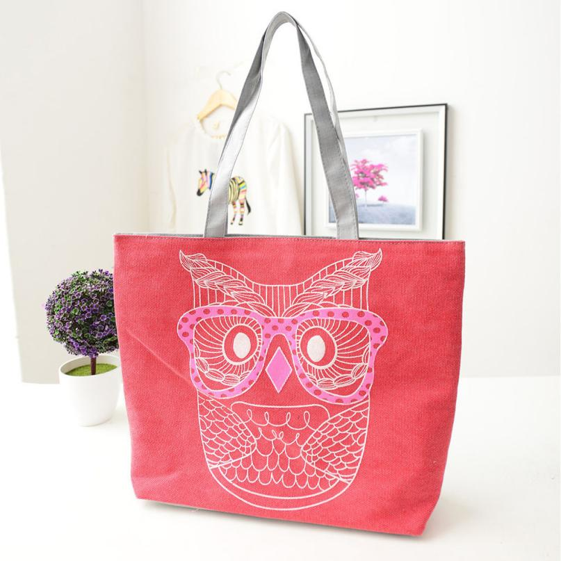 Fashion Lady Owl Shopping Handbag Shoulder Canvas Bag Tote Purse Designer Famous Brand MAY10
