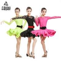 Girls Ballet Dance Dress Children Cha Cha Kid Competition Latin Dress Dancing Kids Girl Class Dancewear Kid Latin Costume