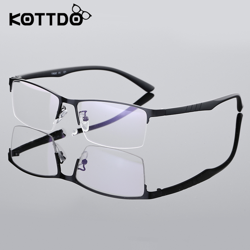 df87b728f66 KOTTDO Half Frame Eyeglasses Computer Glasses Men Optical .
