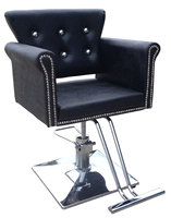Hair salon fashion hair salon chair. Upscale salon haircut beauty care stool. Chair lift.