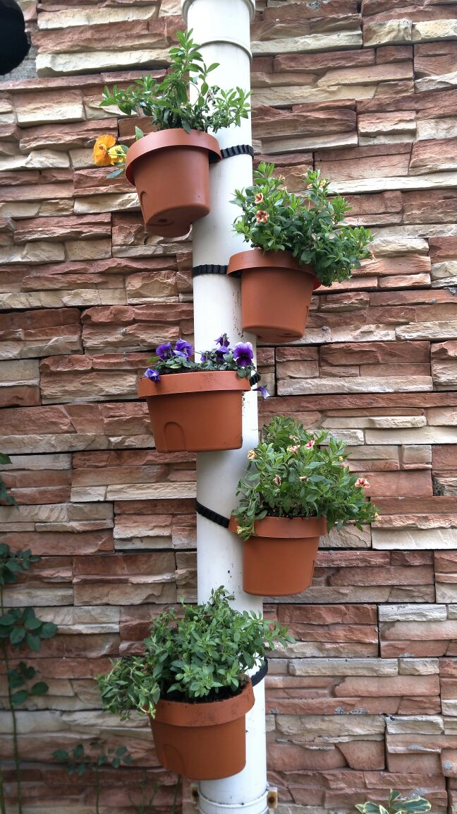 Tubs Drain Pipe Garden Planters 3pcs/lot Terracotta Effect DRAIN PIPE FLOWER PLANT POTS Tubs Drain Pipe Garden Planters