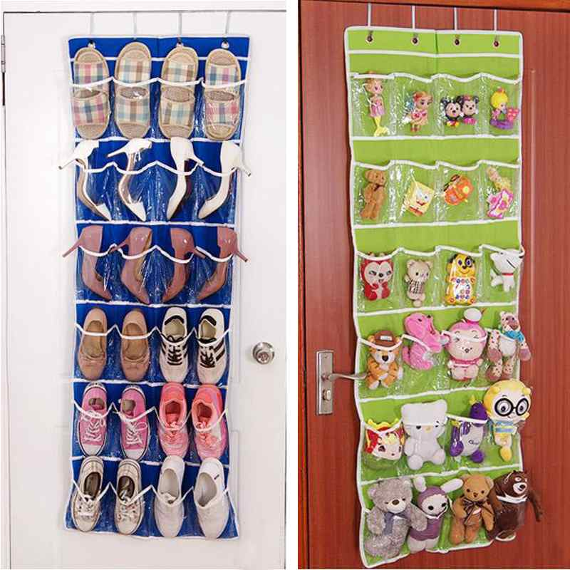 24 Pocket Over Door Shoes Organizer Hanging Hanger Closet Space Save Storage Bag(China ( & Popular Shoe Door Hanging-Buy Cheap Shoe Door Hanging lots from ... Pezcame.Com