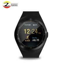 Nuevo círculo y1 pantalla smart watch soporte tarjeta sim nano y tf tarjeta con whatsapp y facebook y twitter aplicación smartwatch en venta