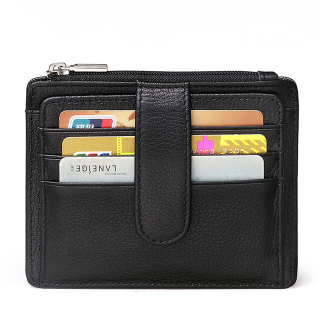 Men Business Genuine Leather Wallet Business Casual Credit Card ID Holder Money Coin Wallet Holder Hasp Purse Free Shipping K860