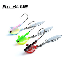 ALLBLUE Jig Head Lead Spin Head Hooks 6pcs/lot 10g With Blade Lure Hook Multicolor Fishing Tackle Fishing Hooks