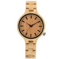 Full Wooden Women S Bracelet Watches Simple Quartz Modern Ladies Watch Novel Nature Wood Sport Wristwatch