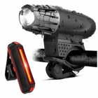 Bike Lights Bicycle Lights Front and Back USB Rechargeable Bike Light Set Super Bright Front and Rear Flashlight LED Headlight