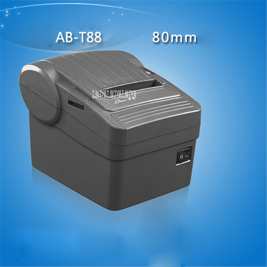AB-T88 New 72mm receipt bill Thermal printer High quality Small ticket POS printer automatic cutting printing speed Fast 200mm/s ...
