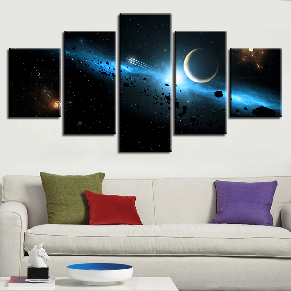 Canvas Hd Prints Poster Living Room Wall Art 5 Pieces